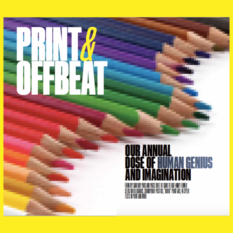 Innovation in Media 2020-21: Print & Offbeat