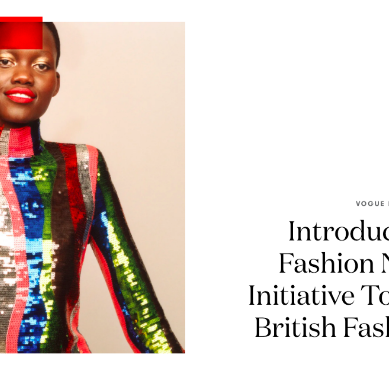 British Vogue launches Vogue Fashion Now to support the British fashion industry